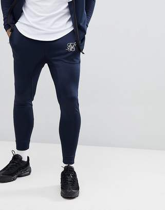 SikSilk joggers in navy