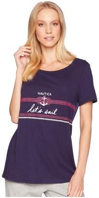 Nautica Graphic T-Shirt Women's Pajama