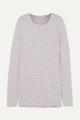 alexanderwang.t - Striped Slub Jersey Top - Gray