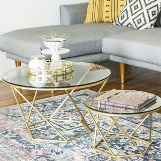 Everly Quinn Aman 2 Piece Coffee Table Set Base