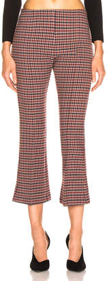 Smythe Pull On Cropped Kick Pant in Sherlock Check | FWRD