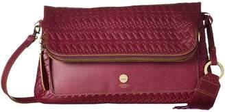 Lodis Rodeo Woven RFID Aphra Zip Flap Crossbody Cross Body Handbags