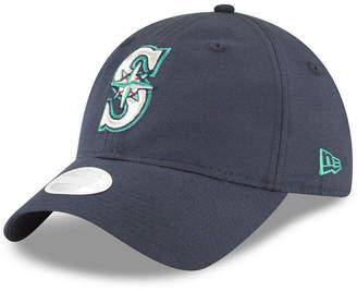 New Era Seattle Mariners Team Linen 9TWENTY Strapback Cap
