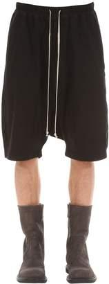 Rick Owens Pods Cotton Jersey Shorts