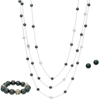 Carolee Soho Simulated Pearl Multi-strand Necklace Set