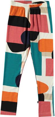 Molo Niki Multicolored Geometric Leggings, Size 4-14