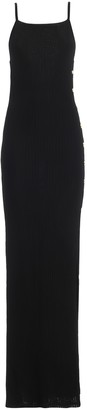 Balmain Ribbed Viscose Jersey Long Slip Dress