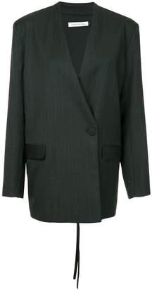 CHRISTOPHER ESBER side button pinstripe blazer