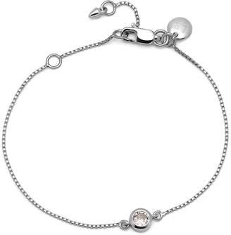 Lola Rose London - Curio Stud Slider Bracelet Natural White Zircon