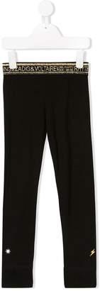 Zadig & Voltaire Kids logo waistband leggings