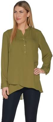 Joan Rivers Classics Collection Joan Rivers Flowy Tunic with Sheer Overlay