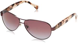 Ralph Lauren by Ralph by Women's 0ra4096 Polarized Aviator Sunglasses