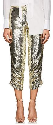 retrofête Women's Clara Sequined Crop Pants - Gold