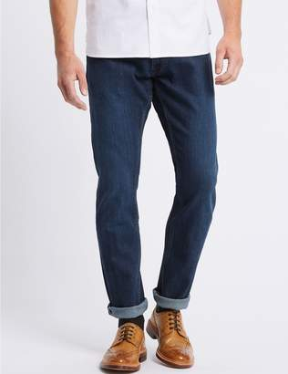 Marks and Spencer Slim Fit Selvedge Jeans with Stormwear