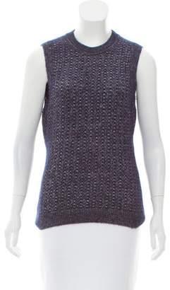 Oscar de la Renta Silk & Cashmere-Blend Sweater