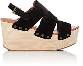 Derek Lam 10 Crosby WOMEN'S HEATH LEATHER & SUEDE PLATFORM-WEDGE SANDALS