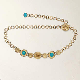 Maje Chain belt with hammered medallions