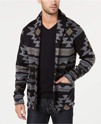 Levi's Men's Reverve Geometric Fleece Cardigan