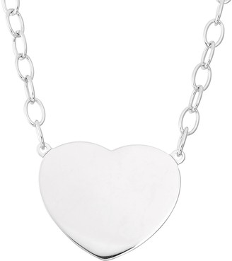 Sterling Silver Heart Link Necklace