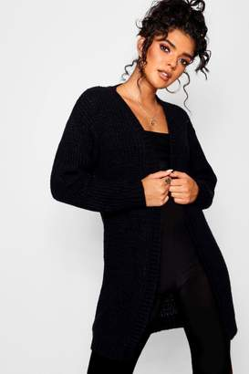 boohoo Long Edge To Edge Maxi Cardigan