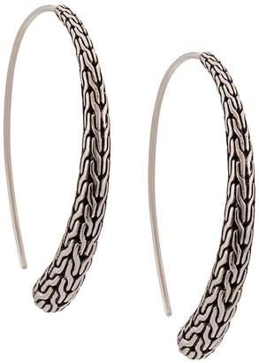 John Hardy large hoop earrings