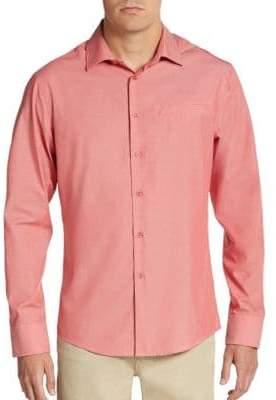 Vince Camuto Regular-Fit Mock-Pocket Sportshirt