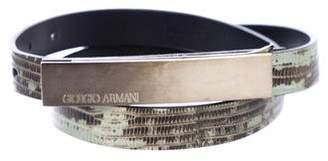 Giorgio Armani Snakeskin Waist Belt