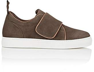 Barneys New York WOMEN'S STRAP-DETAILED SUEDE SNEAKERS - SAND SIZE 5