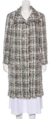 Chanel Lesage Tweed Knee-Length Coat