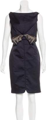 Zac Posen Bow-Accented Embroidered Dress