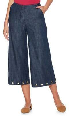Rafaella Cropped Wide-Leg Trousers