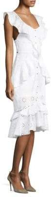 Alice McCall Claire De Lune Eyelet Ruffle Dress