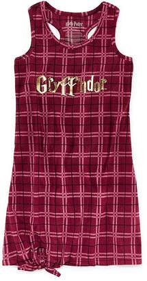 Asstd National Brand Girls Microfleece Harry Potter Sleeveless Round Neck Nightgown