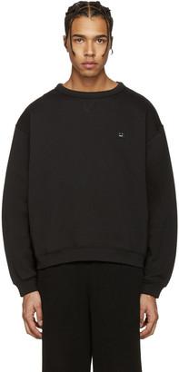 Acne Studios Black Fint Face Sweatshirt $240 thestylecure.com
