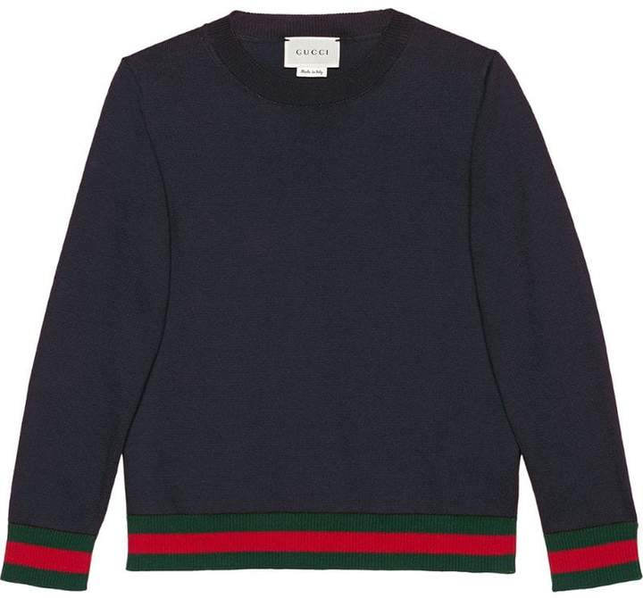 Gucci Kids Children's cotton sweater with Web