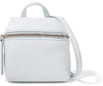 Kara Micro Textured-leather Shoulder Bag - Sky blue