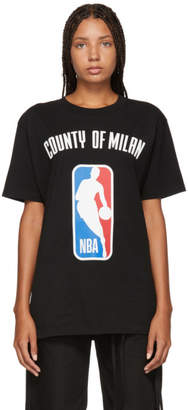 Marcelo Burlon County of Milan Black NBA T-Shirt