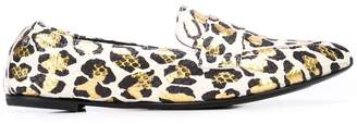 AGL pointed leopard loafers