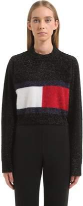 Tommy Hilfiger Tommy Flag Brushed Lurex Knit Sweater