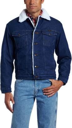 5ffd7ea04d Wrangler Men s Western Style Lined Denim Jacket