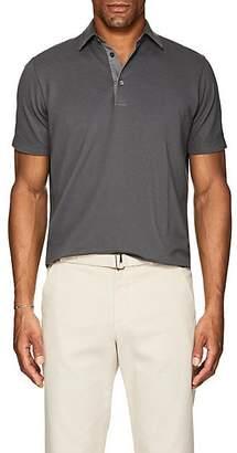 Loro Piana Men's Cotton Piqué Polo Shirt - Gray