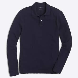 J.Crew Factory Long-sleeve piqué polo shirt