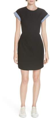 Derek Lam 10 Crosby Short Sleeve A-Line Dress