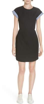 Derek Lam 10 Crosby Short Sleeve A-Line Dress
