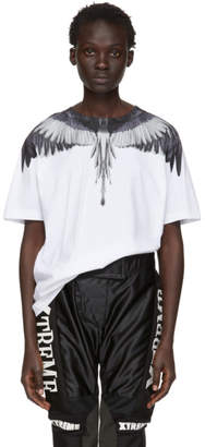 Marcelo Burlon County of Milan White and Silver Wings T-Shirt