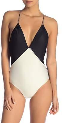 Vix Betsey Colorblock One-Piece Swimsuit