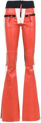 Andrea Bogosian flared leather trousers