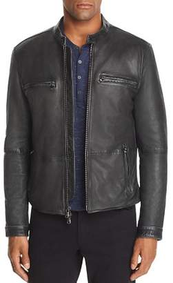 John Varvatos Zip-Front Leather Jacket - 100% Exclusive