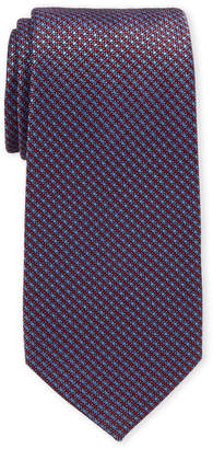 Perry Ellis Portfolio Red Roland Mini Check Silk-Blend Tie