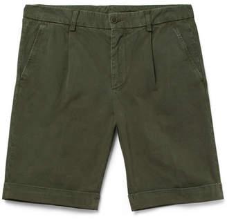 Aspesi Slim-Fit Washed Cotton-Twill Chino Shorts